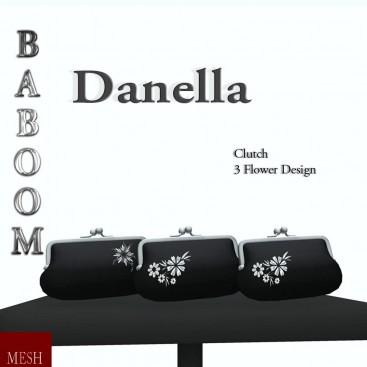 Baboom- Danella-clutch-black