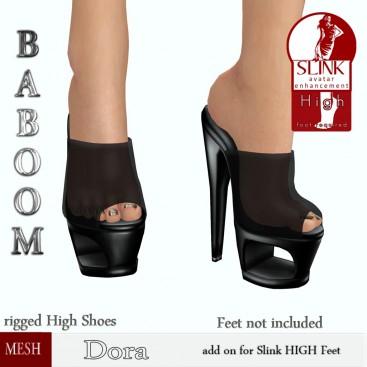 Baboom- Dora-slink high-black-