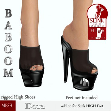 Baboom- Dora-slink high-black-spikes