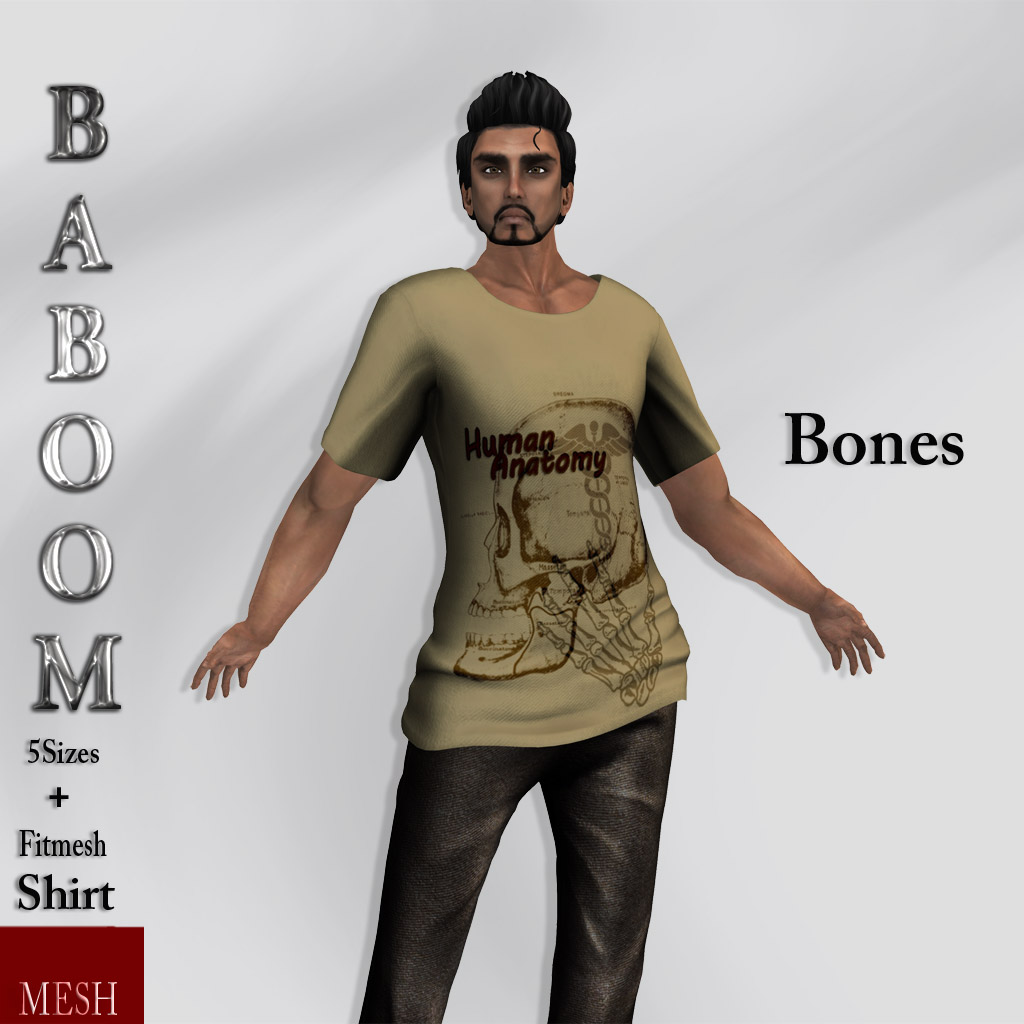 Baboom-Bones-man shirt- brown