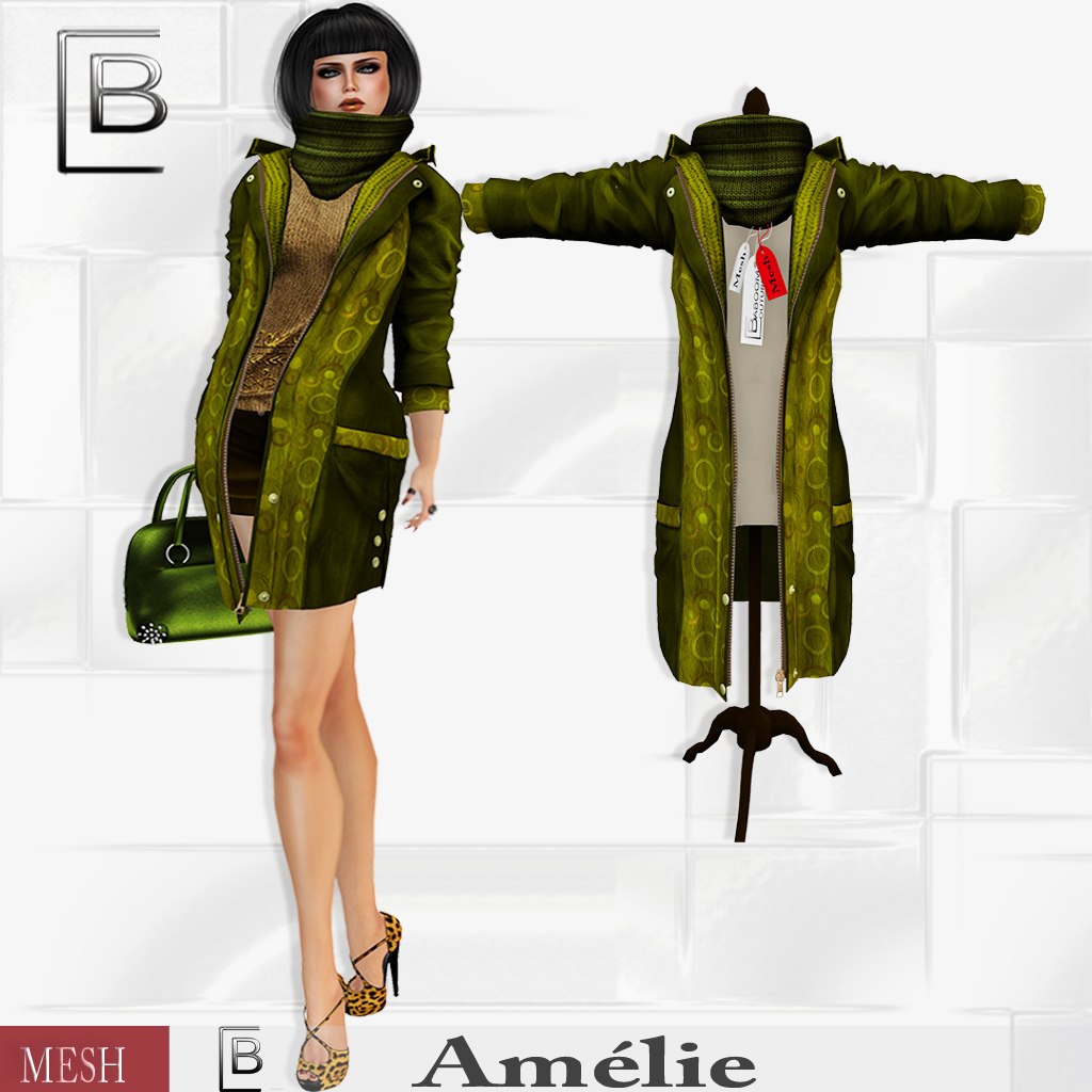 Baboom-Amelie-coat- mixed- olive