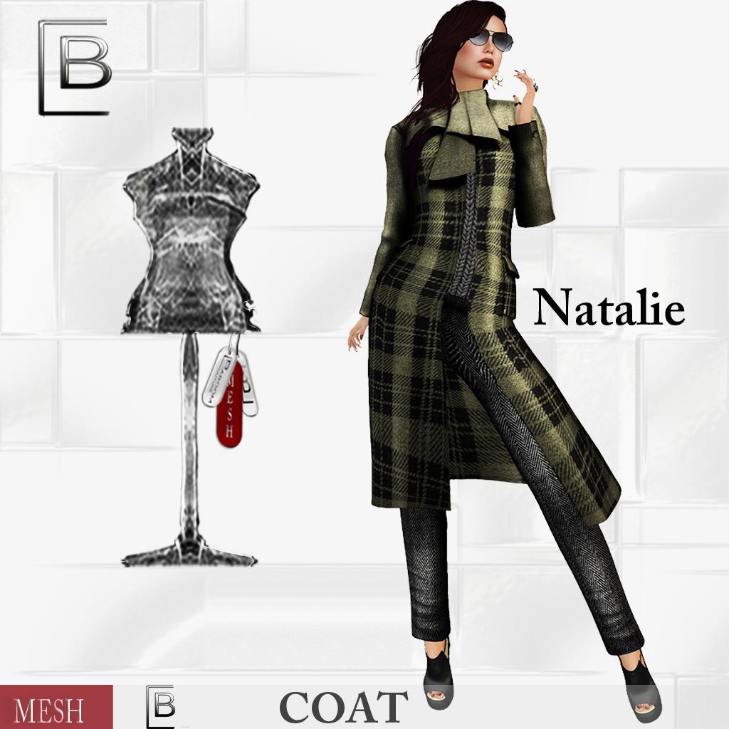 Baboom-Natalie-mesh Coat-Plaid- oliveblack