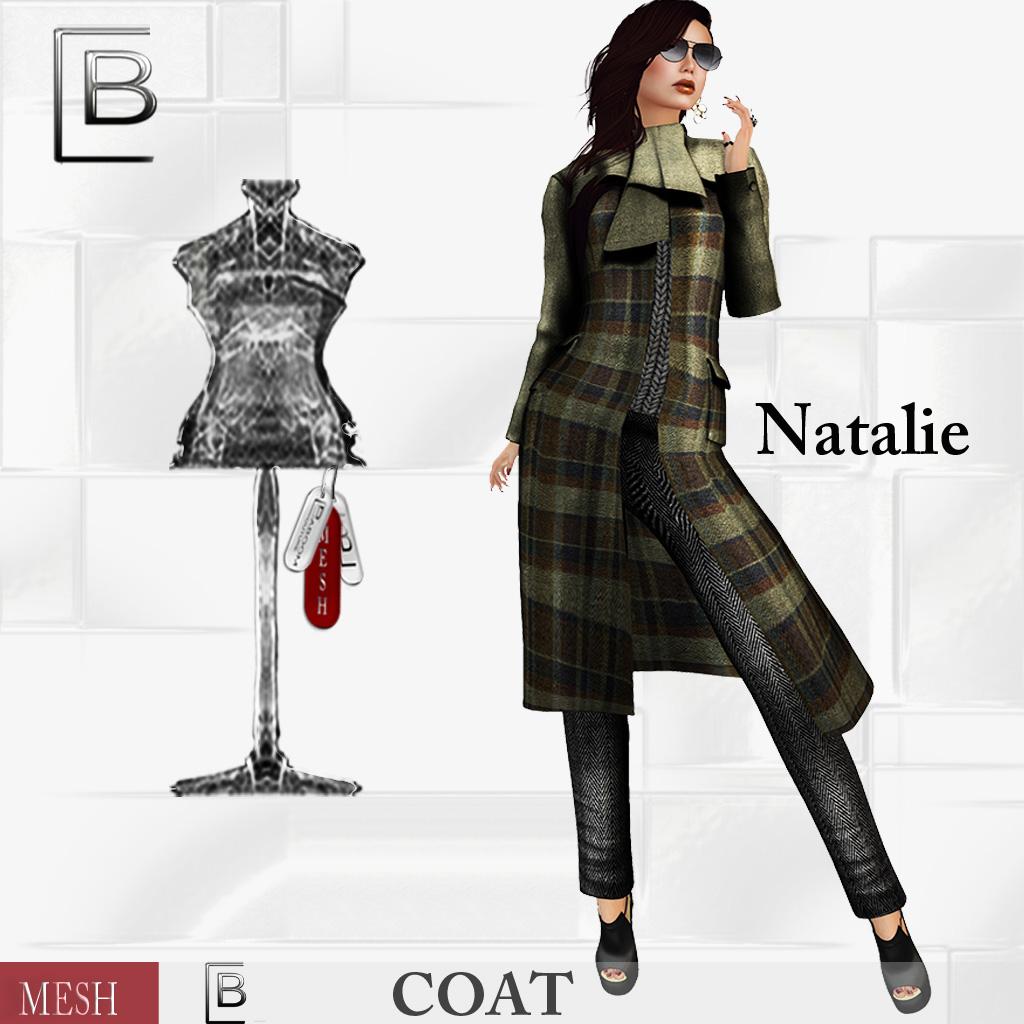 Baboom-Natalie-mesh Coat-Plaid- olivebrown