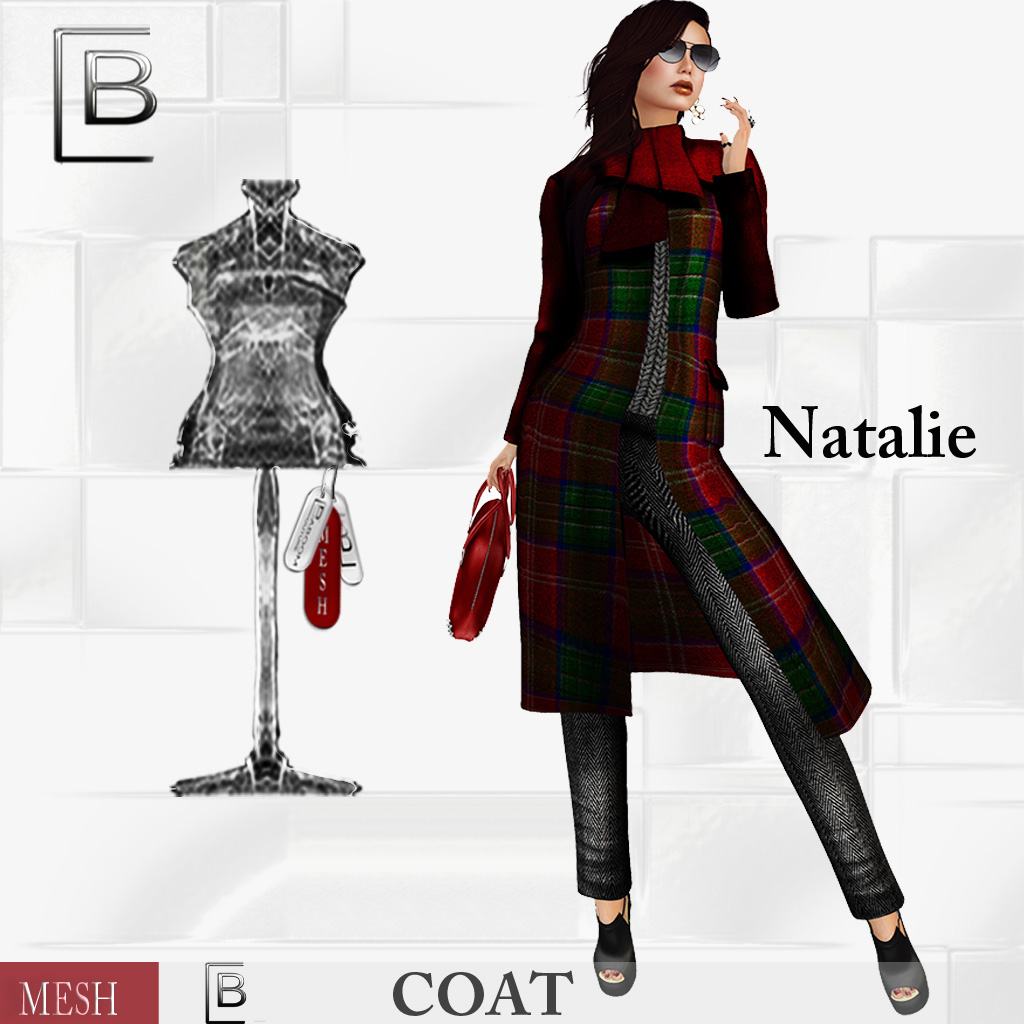 Baboom-Natalie-mesh Coat-Plaid- red