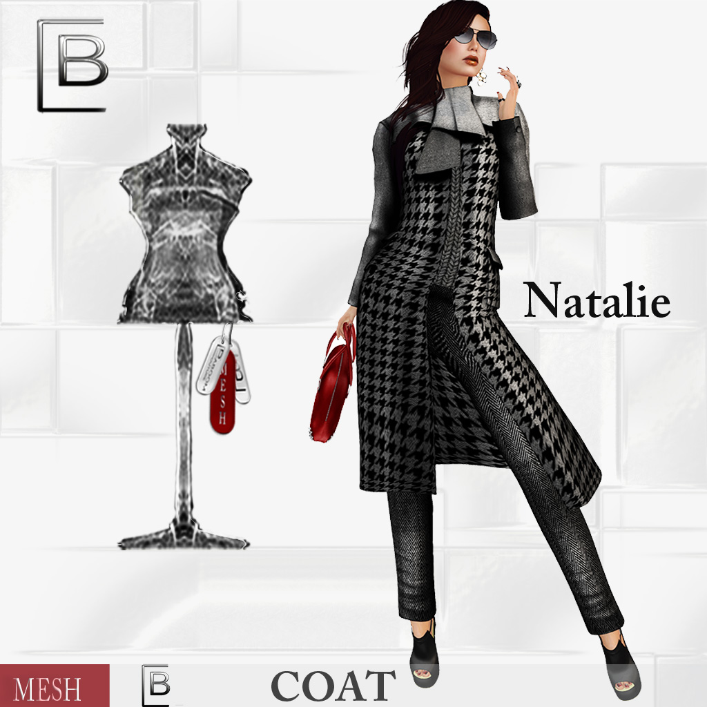 Baboom-Natalie-mesh Coat-pepper and salt