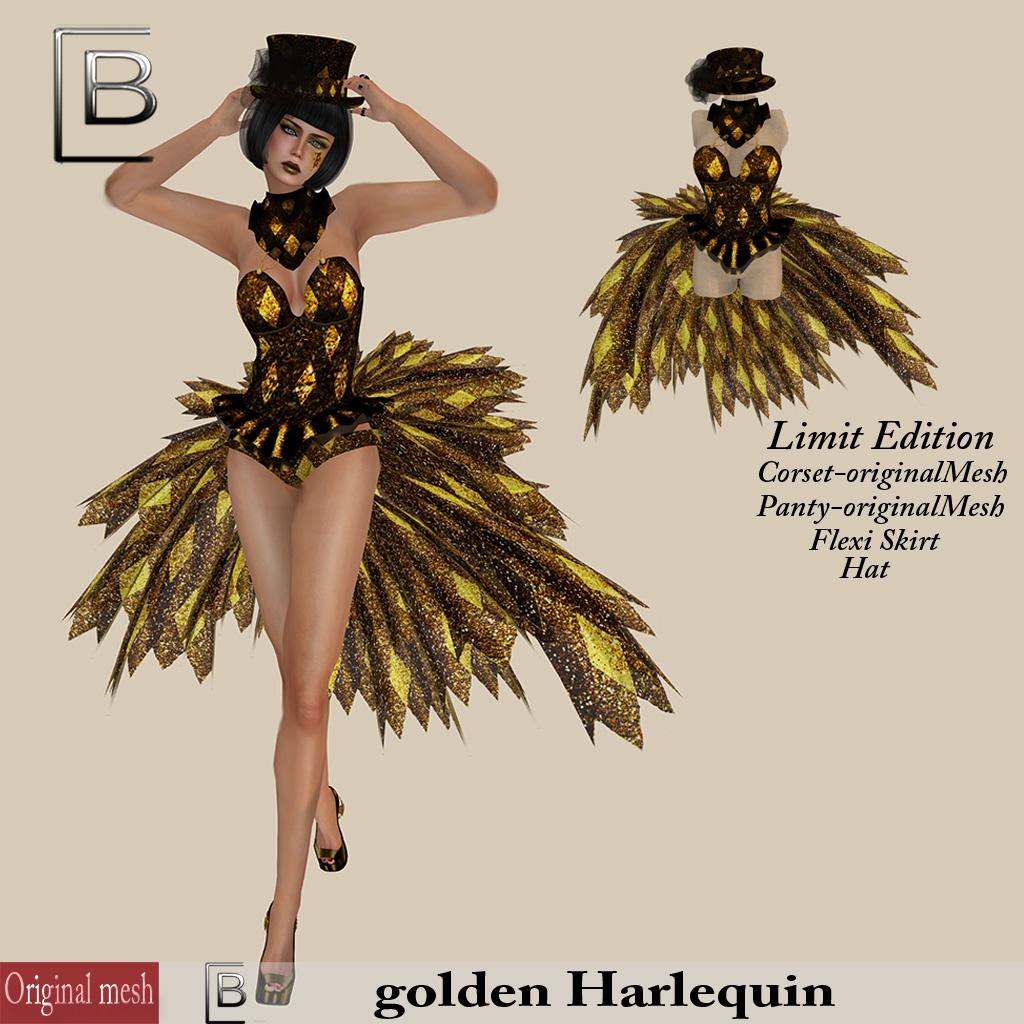 Baboom-Corset-golden Harlequin--originalMesh-limit