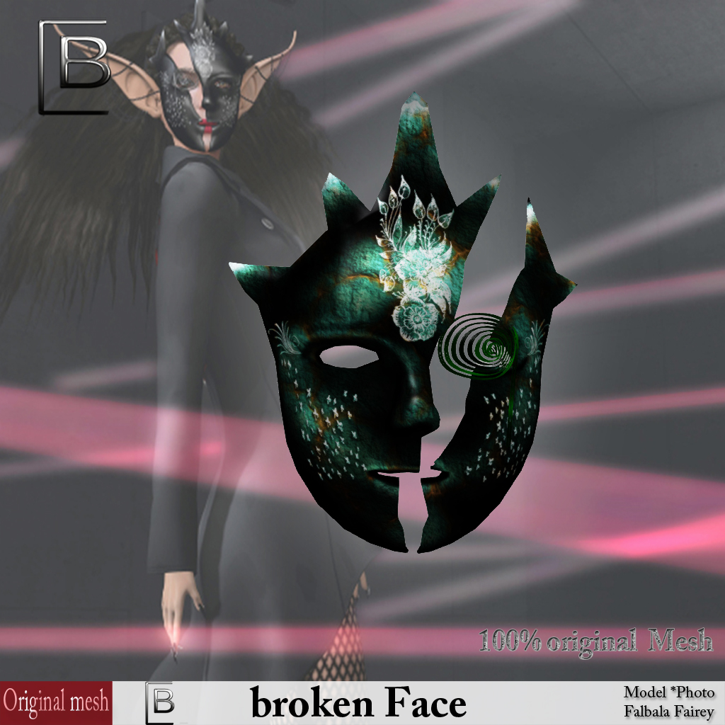 Baboom-brokenFace- green -originalMesh