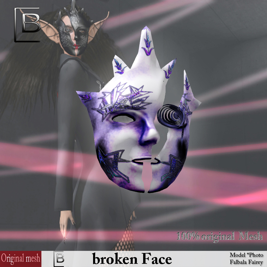 Baboom-brokenFace porcelain-lila-originalMesh