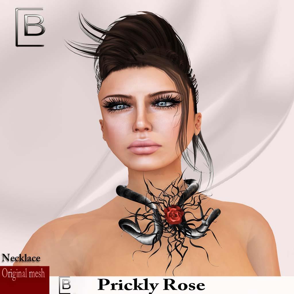 Baboom-prickly rose-black-nacklace