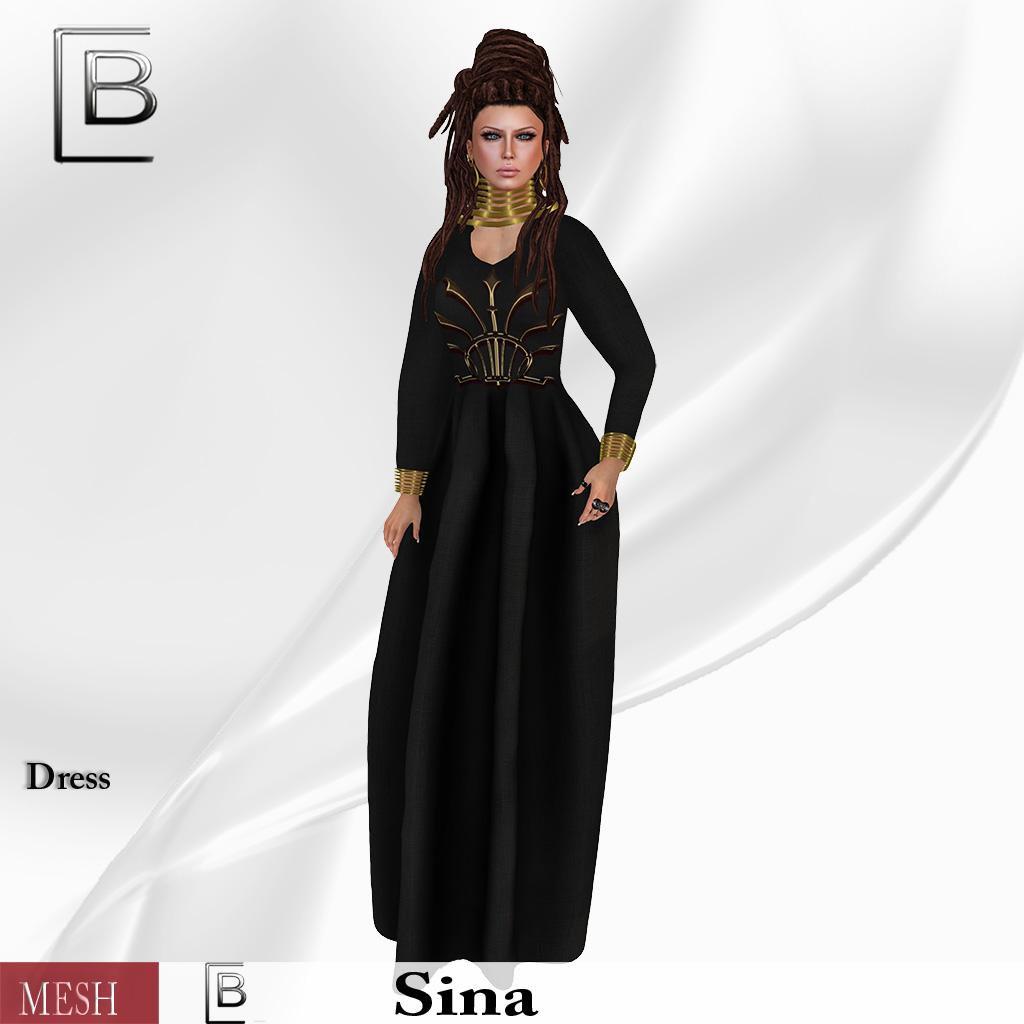 Baboom-sina-dress with gold