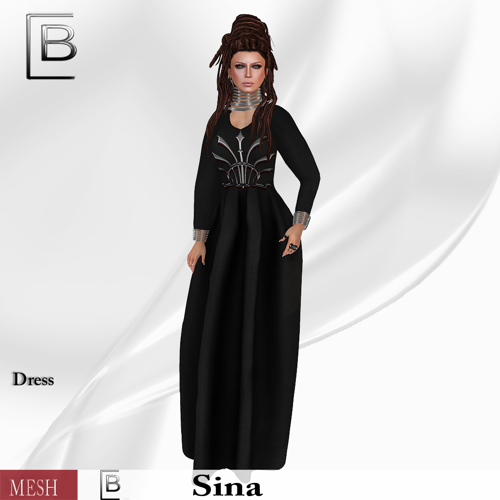 Baboom-sina-dress with silber