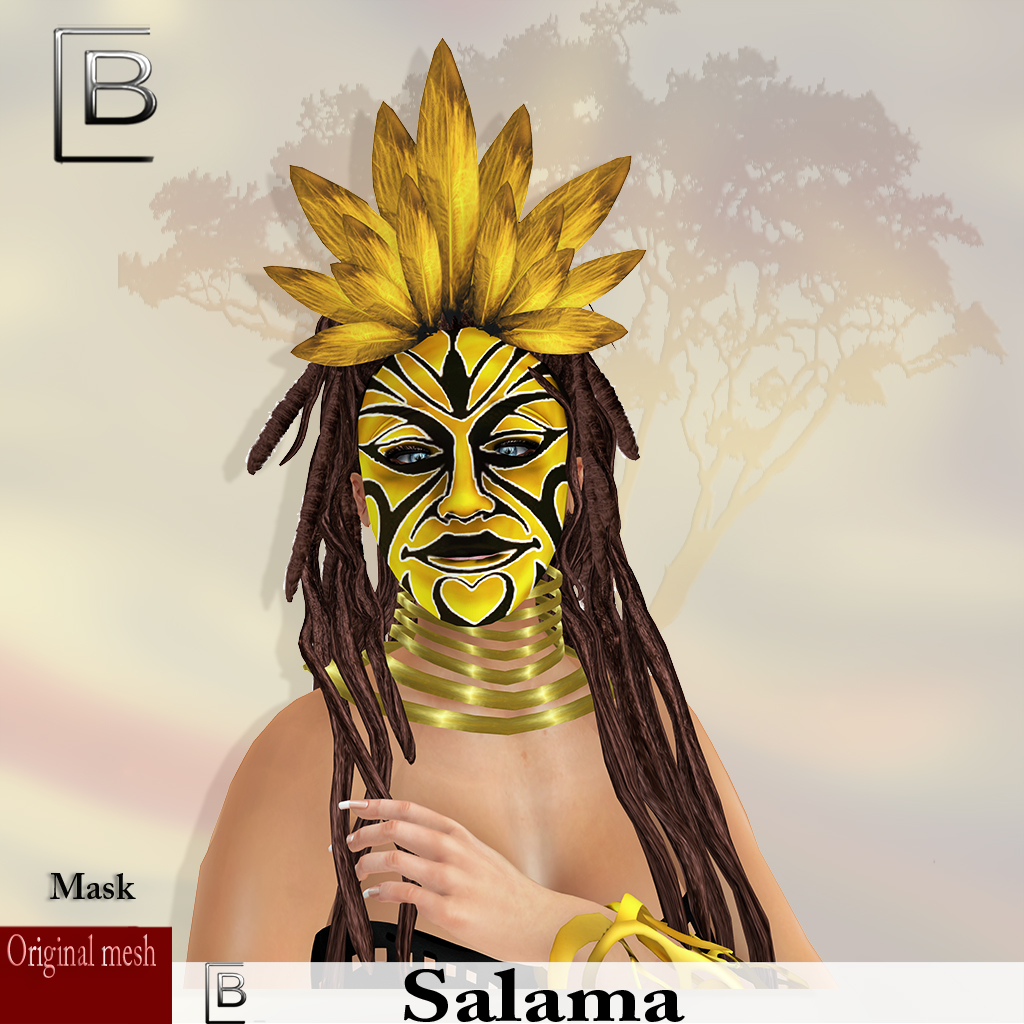 maske Salama-blackyellow -originalmesh