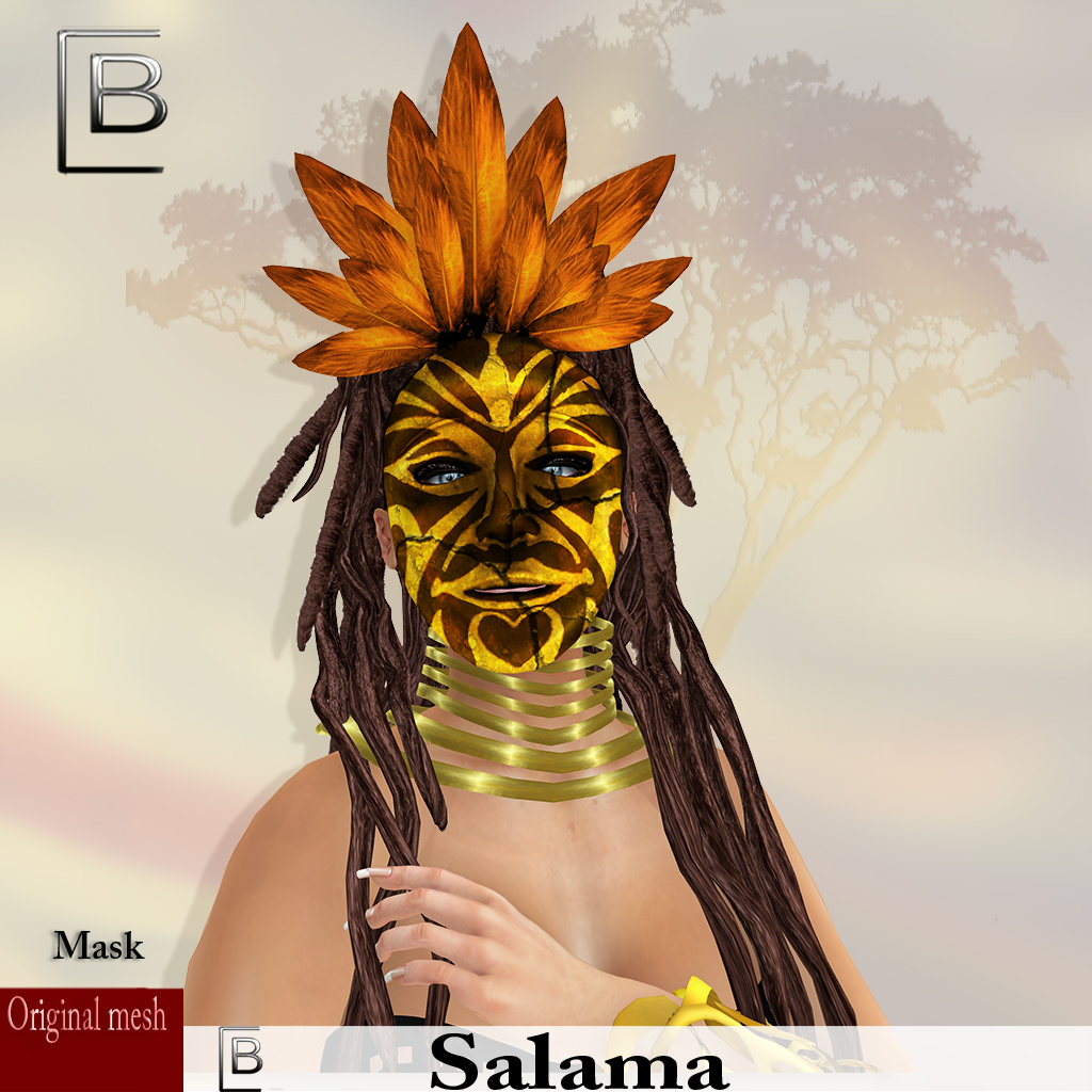 maske Salama-brokenBrown -originalmesh