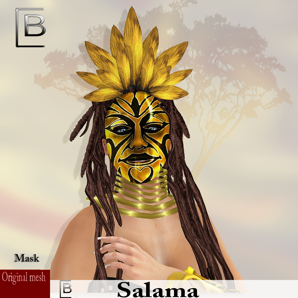 maske Salama-goldblack -originalmesh