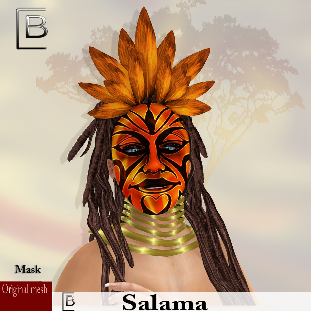 maske Salama-goldred -originalmesh