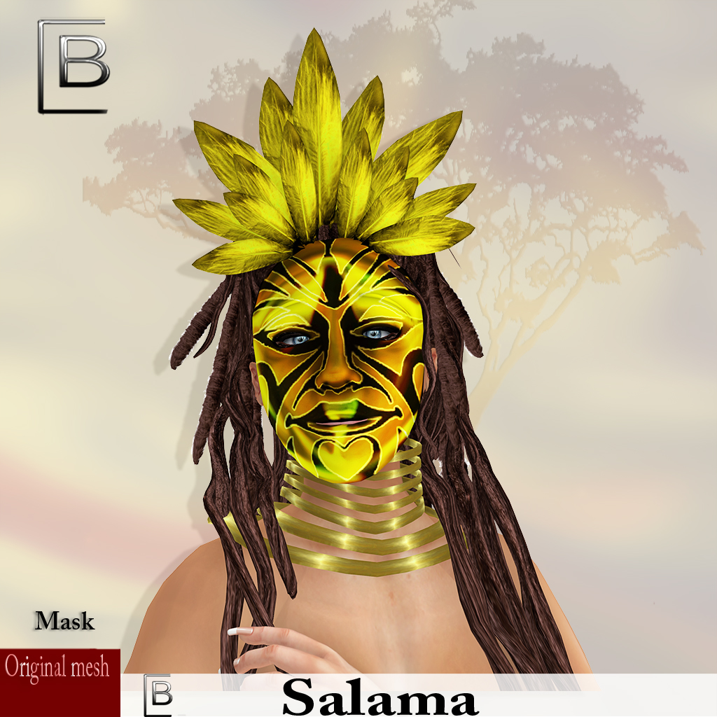 maske Salama-yellow   -originalmesh