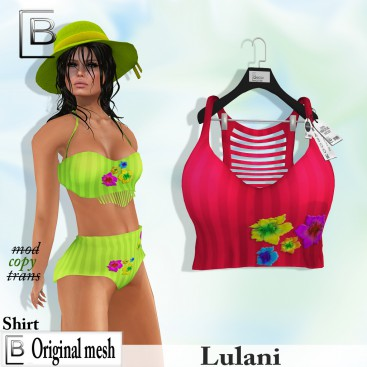 Baboom-Lulani- original shirt- crimson