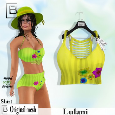 Baboom-Lulani- original shirt- yellow