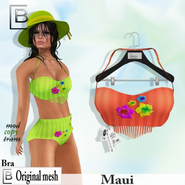 Baboom-MAui- original Bra-orange