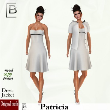 Baboom- Patricia-dress-jacket white