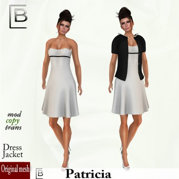 Baboom- Patricia-dress white-jacket-black
