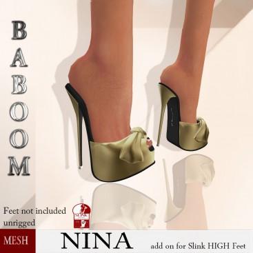 Baboom-NINA-Slink high- goldy
