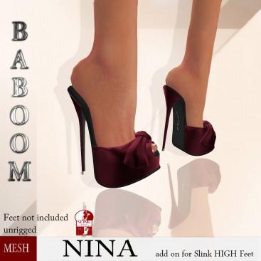 Baboom-NINA-Slink high- redwine