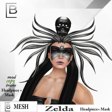 Baboom-Zelda-Headpiece+ Mask- black