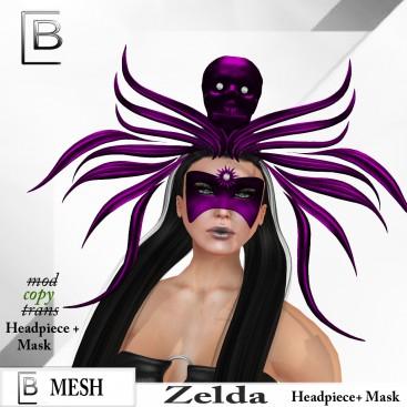 Baboom-Zelda-Headpiece+ Mask- lila