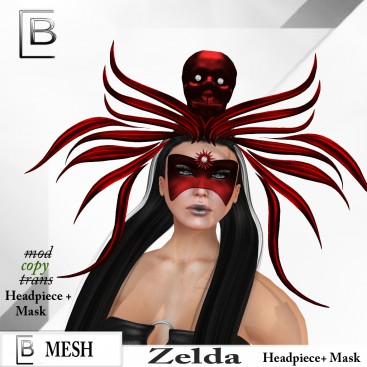 Baboom-Zelda-Headpiece+ Mask- red