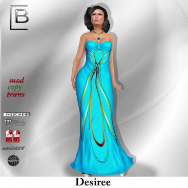 baboom-desiree-gown-blau